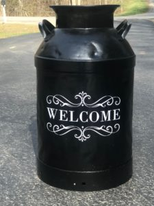Repainted Vintage Milk Can