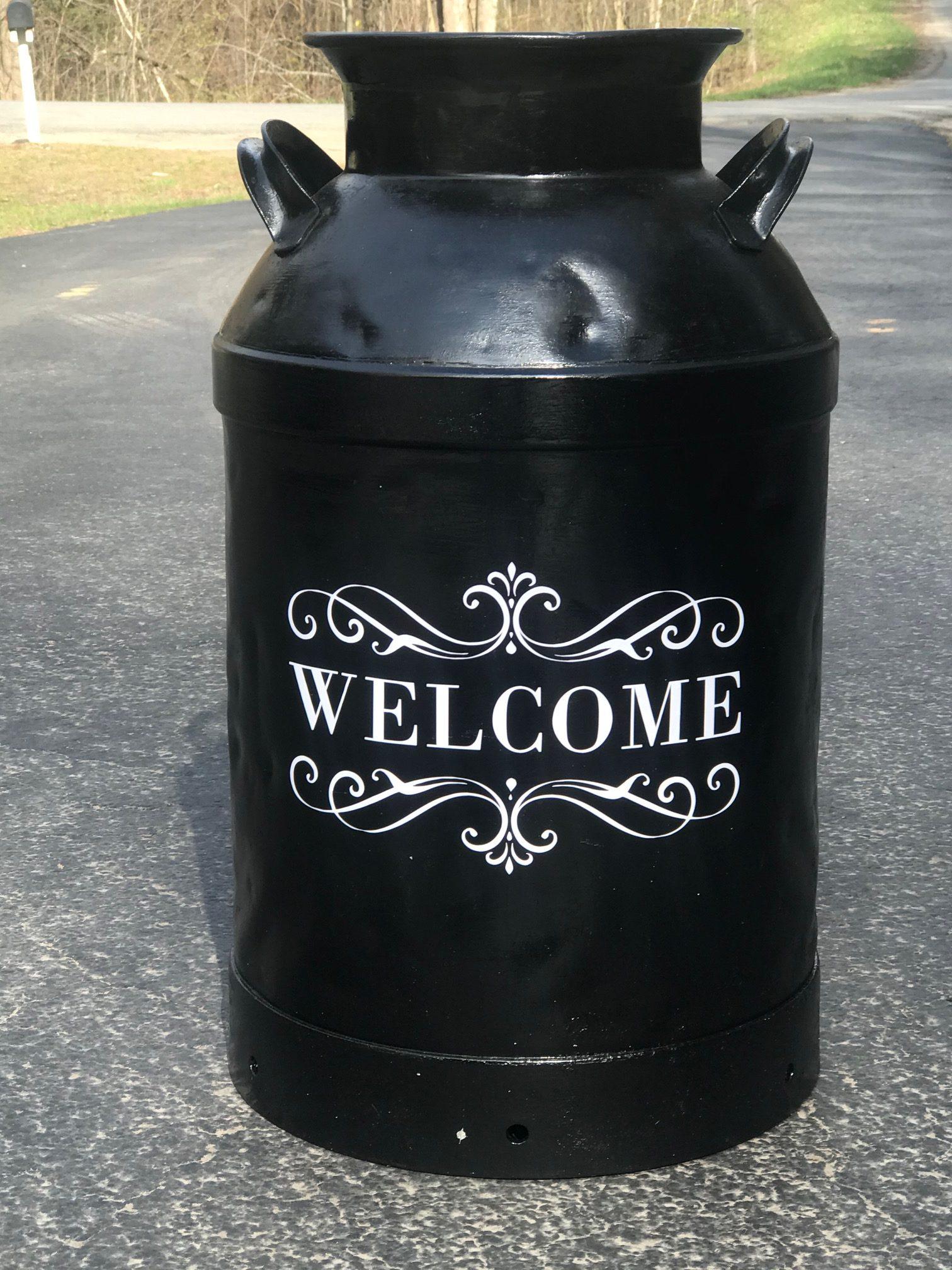 Repainted Vintage Milk Can