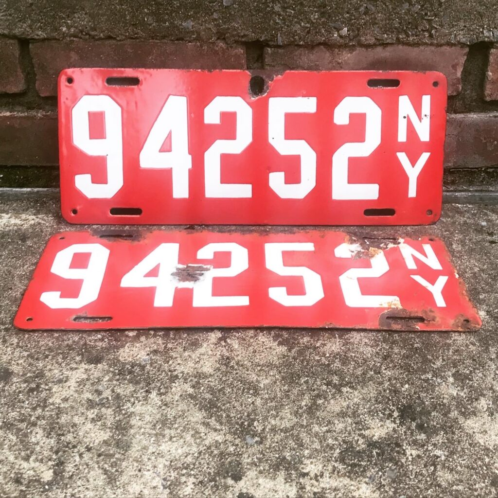 Antique New York License Plates