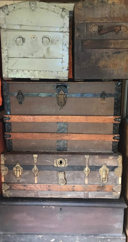 Steamer Trunks Pile