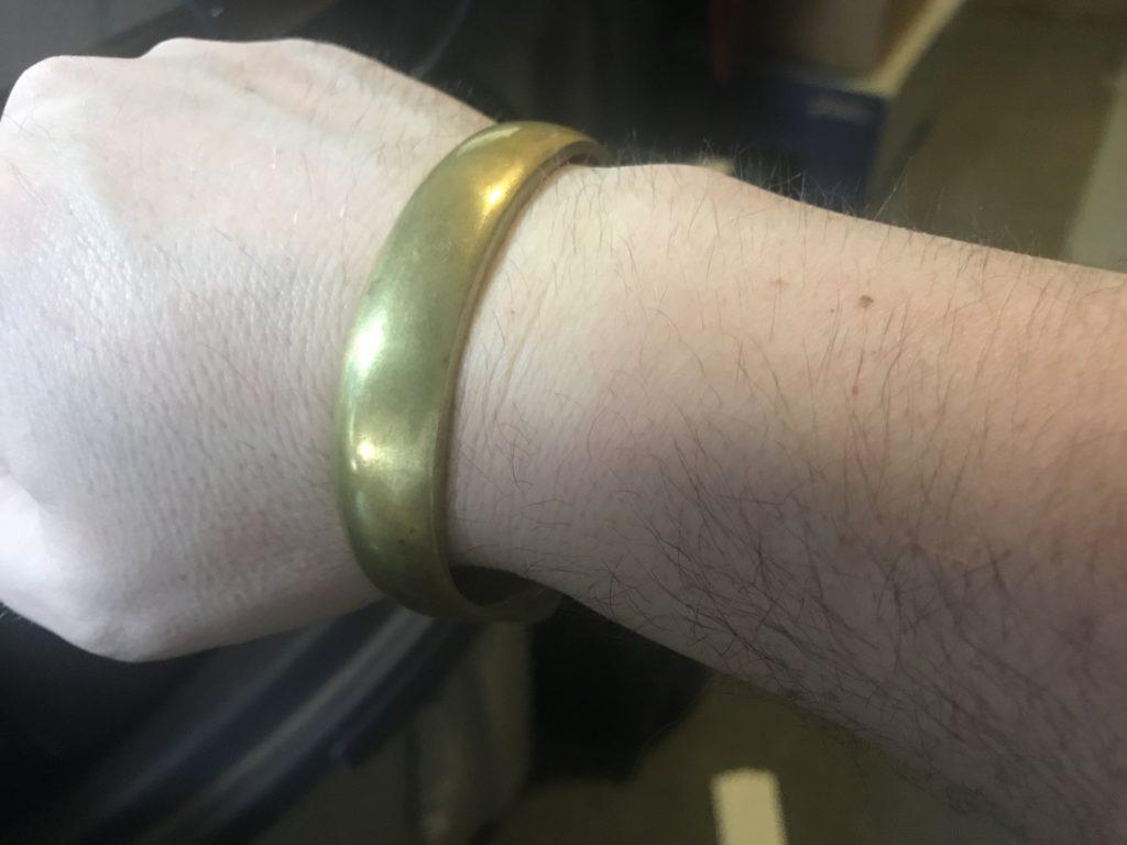 Primitive Brass Cuff Bracelet